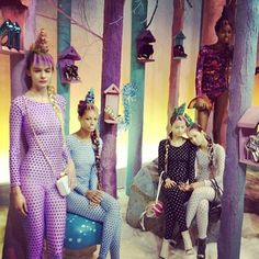 There's a magical pastel coloured fairyland at Sophia Webster's presentation at #Topshop showspace. #sw13