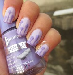 Dripping Drop Nail Art Purple