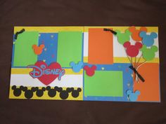 Scrapbook Page Kit Disney layout