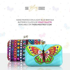 2 way bags - tribal print or butterfly - carry @art in hand! #handpainted bags by Crazy Palette :