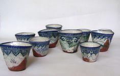 Petites pièces : Jerome Galvin www. Ceramic Clay, Ceramic Painting, Ceramic Plates, Clay Clay, Pottery Plates, Ceramic Pottery, Hand Painted Plates, Clay Design, Tea Bowls