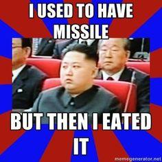 Hungry Kim Jong-un   Know Your Meme Funny Cartoons, Funny Memes, Funny Stuff, Kim Jong Un Cartoon, Kim Jong Un Memes, North Korea Kim, Wonder Boys, Kim Jung, Korea