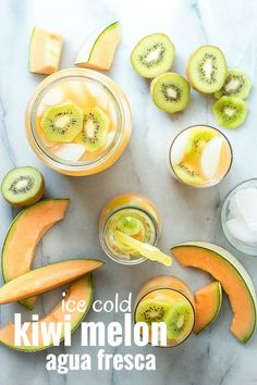 Super-refreshing melon and kiwi agua fresca. Simple to make and ...
