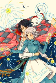 fanart of howls moving castle :)  myrollingstar.tumblr.com