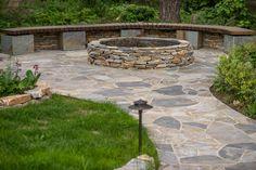Идея очага из камня Очаг из натурального камня Дорожка из натурального камня