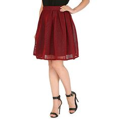 AS by Anna Smith Red two tone mesh skirt- | Debenhams