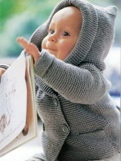 Baby Knitting Patterns Jacket Jackets – Hooded Baby Jacket – a unique product by on DaWanda Knitted Baby Cardigan, Knitted Baby Clothes, Cute Baby Clothes, Baby Knitting Patterns, Coat Patterns, Crochet Patterns, Crochet Woman, Crochet Baby, Patterned Socks