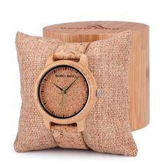 Бобо птица любителей Дизайн Бамбук Деревянные дамы кварцевые наручные часы ручной работы дерево Часы для Для мужчин Для женщин как подарок ...