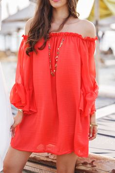 red off should summer dress chicwish.com  @themysteriousgirl