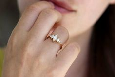 Marquise Diamond Ring Art Deco Engagement Ring Cluster