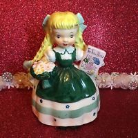 Vtg Napco Girl Goldilocks Three Bears Nursery Rhyme Figurine Japan Not A Planter
