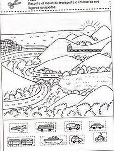 Transportation Preschool Activities, Preschool Scavenger Hunt, Transportation Theme, Preschool Themes, Preschool Worksheets, Preschool Learning, Activities For Kids, Alphabet Coloring Pages, Coloring Pages For Kids