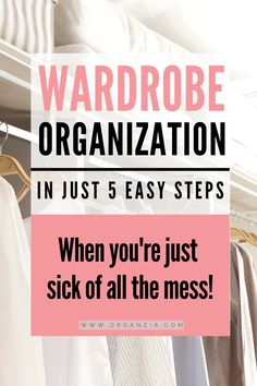 Best Closet Organization, I Heart Organizing, Wardrobe Organisation, Home Organization Hacks, Organizing Your Home, Clothing Organization, Organizing Tips, How To Organize Your Closet, Declutter Your Home