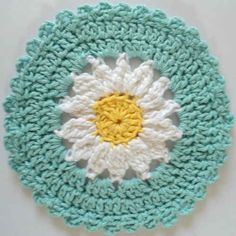 Daisy Dishcloth: #free #crochet #pattern