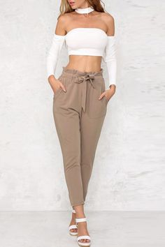 Women's Clothing Pants & Capris Hot Women Casual Wide Leg Long Loose Trousers High Waisted Pocket Color Black Femme Ladies Stretch Pants Perfect In Workmanship