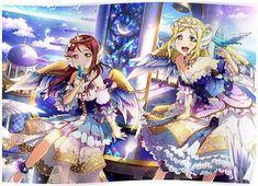 re 405453 angel love_live! ohara_mari sakurauchi_riko see_through wings. Anime Love, Vocaloid, Love Live School Idol Project, Mari Ohara, Shingeki No Bahamut, Anime Stars, Live Girls, Pretty Cure, Magical Girl