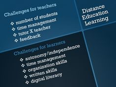 Challenges on Distance Education Learning