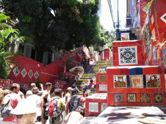 famous colorful stairs of Rio de Janeiro