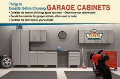 Things to Consider Before Choosing Garage Cabinets -  •Consider the amount of storage space you need •Determine your cabinet style •Decide the materials for garage cabinets, either wood or metal. •Consider the door style of your cabinets
