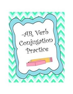 worksheets to practice Spanish -AR verb conjugations in the present ...