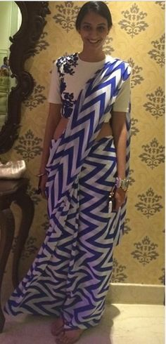 Nice #geometrical design #prints #saree
