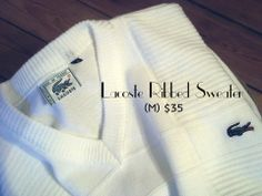Lacoste Ribbed V Sweater (M) $35 – Retrended