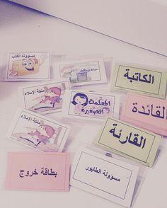 Classroom Labels, Preschool Classroom, Classroom Organization, Learning Arabic, Fun Learning, Learning Activities, School Displays, School Calendar, Teaching Strategies