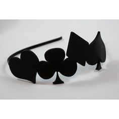 Alice in Wonderland Inspired Laser Cut Acrylic Headband in Black Tie