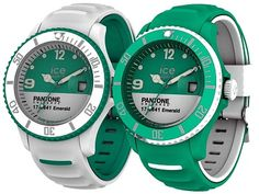 Pantone x Ice watch - Emerald 2013 Ice Watch, Pantone Universe, Packaging Design, Smart Watch, Emerald, Green, Stuff To Buy, Wristwatches, 2013