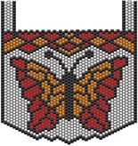 Red and Orange Butterfly Pattern at Sova-Enterprises.com Lots of Free Beading Patterns and Tutorials!