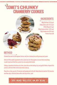 Chunky Cranberry Cookies Recipe
