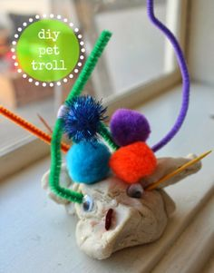 scrumdilly-do!: the three billy goats gruff: pet trolls Fairy Tale Activities, Eyfs Activities, Kindergarten Activities, Preschool Activities, Traditional Tales, Traditional Stories, Fairy Tale Theme, Fairy Tale Crafts, Fairy Tales Unit