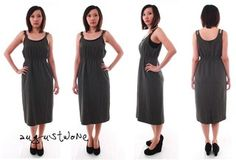 Vintage Dark Grey Dress -  on @ClozetteCo