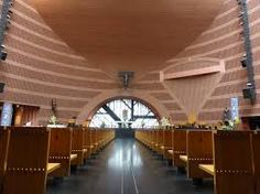 Mario Botta - Cathedral of the Resurrection in Evry Modern Church, Church Architecture, Cathedral, Mario, Stairs, Interior Design, Building, Home, Decor