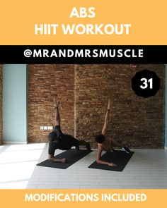 this 10 minute Ab and oblique sculpting HIIT Workout with Beginner modifications. Pin, Share and Tag your workout partner! --Try this 10 minute Ab and oblique sculpting HIIT Workout with Beginner modifications. Pin, Share and Tag your w. Fitness Workouts, Full Body Hiit Workout, Fitness Herausforderungen, Gym Workout Videos, Fitness Workout For Women, At Home Workouts, Workout Partner, Workout Abs, 20 Minute Hiit Workout