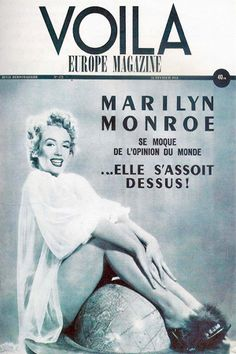 1954: Voila (French) magazine cover of Marilyn Monroe .... #normajeane #vintagemagazine #pinup #iconic #raremagazine #magazinecover #hollywoodactress #monroe #marilyn #1950s