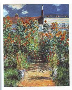 the artist's garden at vetheuil1 | Claude Monet | oil painting #impressionism