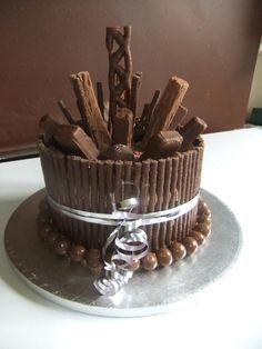 chocolate bar birthday cake - Google Search