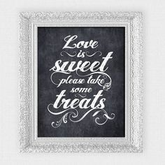 love is sweet please take some treats wedding by idoityourself