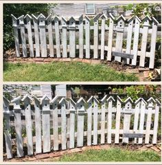 My garden fence made out of pallet wood.