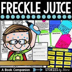 Freckle Juice Book Questions, Vocabulary, & Freckle Juice Craft
