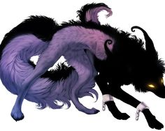 black purple and pink wolf | Forest Warriors ~ Cats that rule the Forest!