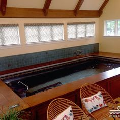 Swim year-round in your sunroom with an Endless Pool. Garden Swimming Pool, Small Swimming Pools, My Pool, Lap Pools, Pool Indoor, Small Sunroom, Sunroom Decorating, Sunroom Ideas, Workout Room Home