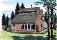 Elevation of Contemporary   Retro   House Plan 24313