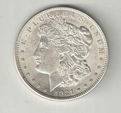 1921 Morgan Silver Dollar $1.00 Coin United States - You Grade It!