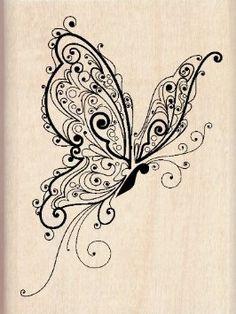 Amazon.com: Inkadinkado Butterfly Wood Stamp: Arts, Crafts & Sewing