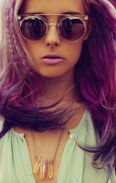 Retro Sunnies // Faded Purple Hair