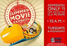 2012 Regal Cinemas Summer Movie Express – $ 1 Movies for Kids!
