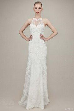 enzoani bridal 2016 kamila sleeveless trumpet wedding dress illusion halter neckline