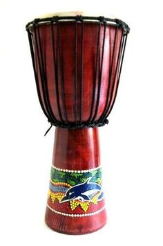 """Djembe Drum African Bongo Drum Hand Drum Professional -Large Size 16"""" x 8"""" Handpainted by World Bazaar Imports. $49.99. Materials: Mahogany Wood   Dimensions: Approx: 15.5""""H x 7.5""""W   Painted design and motif may vary from the picture according to the artist's inspiration.   NOTE: Handmade Item, Tribal motif may vary from picture.  The drum you receive may vary in color from Dark brown to black.. Save 29%!"""